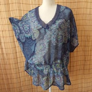 Tops - Sheer Peplum - size 1X